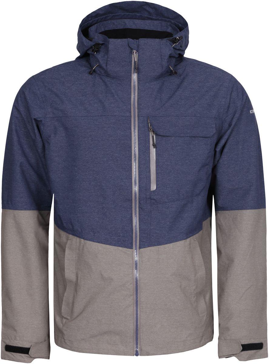 Куртка756111516IV_290Мужская куртка с подкладкой Icepeak выполнена из качественного материала. Модель с длинными рукавами застегивается на застежку-молнию. Изделие дополнено капюшоном и карманами.