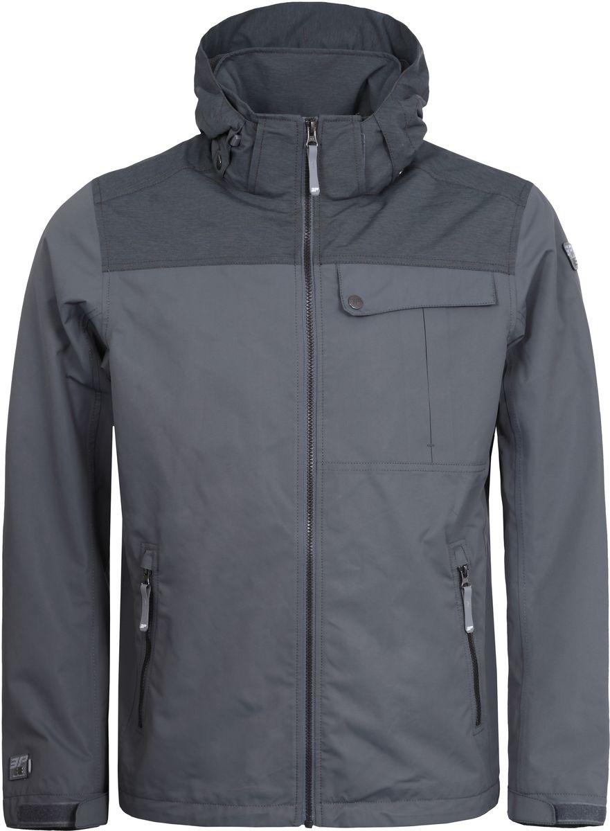 Куртка756011553IVT_010Мужская куртка с подкладкой Icepeak выполнена из качественного материала. Модель с длинными рукавами застегивается на застежку-молнию. Изделие дополнено капюшоном и карманами.