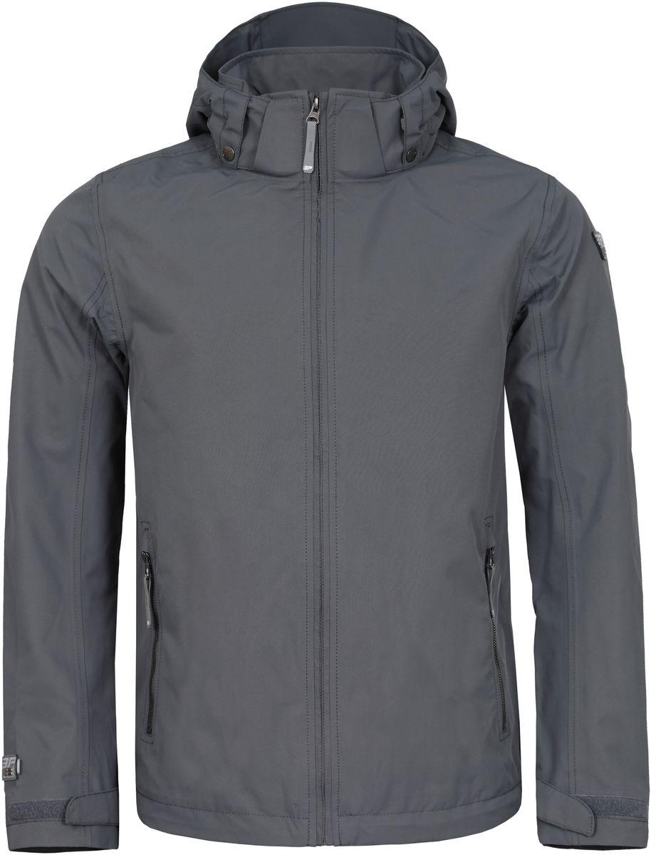 Куртка756003532IV_485Куртка мужская Icepeak изготовлена из износоустойчивой влагоотталкивающей ткани. Подкладка - воздухопропускающий полиамид. Изделие имеет высокую стойку воротника, капюшон с уплотненным козырьком, липучки на манжетах рукавов, регулируемые затяжные шнурки-резинки по низу изделия и на капюшоне. Швы обработаны от проникновения влаги и продувания ветром. Куртка застегивается спереди и на карманах на застежку-молнию, капюшон пристегивается на кнопки и так же застегивается на молнию.
