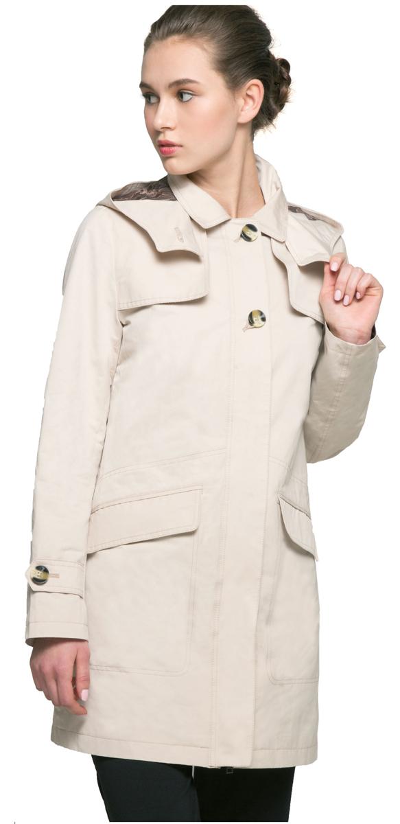 ПлащAL-3126Удлиненная куртка-плащ с капюшоном Grishko актуального женственного прямого силуэта выполнена из плотного материала с хлопковым эффектом и гладкой подкладкой. Модель с застежкой-молнией, скрытой декоративной планкой на пуговицах. Планками закрыты и удобные карманы. Эта универсальная модель - незаменимая вещь для городских будней и активных выходных за городом.