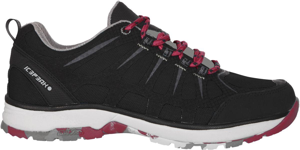 Кроссовки женские Icepeak, цвет: черный. 775207100IV. Размер 40 (39)775207100IVКроссовки женские Icepeak - идеальный вариант для теплой погоды. Модель на шнурках, изготовлена из сетчатой ткани во вставками из искусственной замши.
