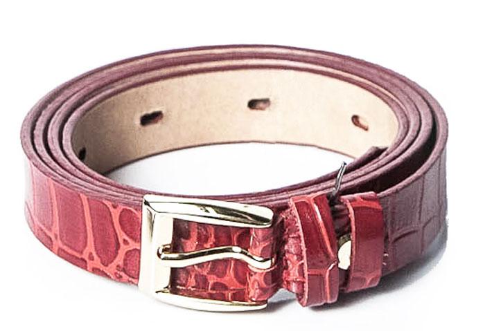 Ремень женский Milana, цвет: красный. 1200-3340-0000. Размер 1201200-3340-0000Стильный женский ремень Milana изготовлен из натуральной кожи. Пряжка выполнена из металла, она позволит легко и быстро зафиксировать ремень и отрегулировать его длину. Элегантный ремень оформлен фактурным принтом, он превосходно сочетается с любыми нарядами.Уважаемые клиенты! Обращаем ваше внимание на тот факт, что размер ремня, доступный для заказа, является его длиной.
