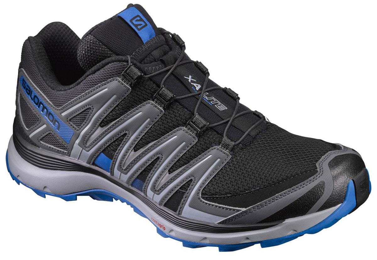Кроссовки для бега мужские Salomon Xa Lite, цвет: черный, серый. L39330700. Размер 10,5 (44)L39330700Кроссовки Salomon Xa Lite выполнены из искусственной кожи и текстиля. У модели крепкая шнуровка для затягивания в одно движение. Конструкция Sensifit обрамляет стопу, обеспечивая точный обхват ноги. У изделия промежуточная подошва из EVA, формованная стелька.