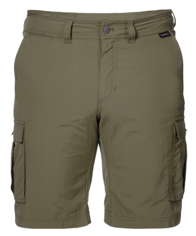 Шорты1504201-1010Шорты мужские Canyon Cargo Shorts - это легкие шорты, которые идеально подходят для походов или путешествий в жаркую погоду. Специальная ткань SUPPLEX блокирует воздействие УФ-лучей и быстро сохнет при намокании. Модель застегивается на ширинку с молнией и пуговицу в поясе. На поясе предусмотрены шлевки для ремня. Шорты имеют два объемных накладных кармана сбоку и два вшитых кармана сзади.