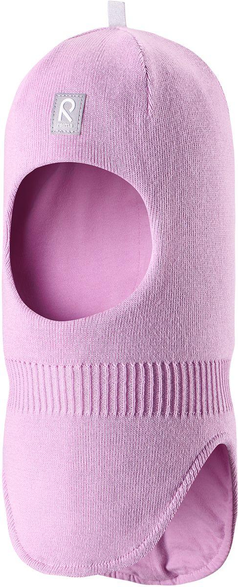 Балаклава детская Reima Ades, цвет: розовый. 5183965210. Размер 505183965210Классическую балаклаву для малышей легко комбинировать с разнообразной верхней одеждой. Шапка-шлем связана из мягкого хлопка, поэтому ее можно носить и весной, и осенью. Эта модель хорошо защищает лоб, уши и шею, а ветронепроницаемые вставки в области ушей гарантируют дополнительную защиту от пронизывающего ветра.