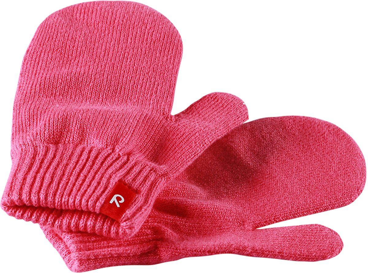 Варежки детские Reima Klistra, цвет: розовый. 527261-3360. Размер 1/2527261-3360Удобные варежки из мягкого хлопка можно носить под водонепроницаемые варежки, а в сухую погоду отдельно. Изготовлены из хлопчатобумажного трикотажа высокого качества и легко стираются в стиральной машине.