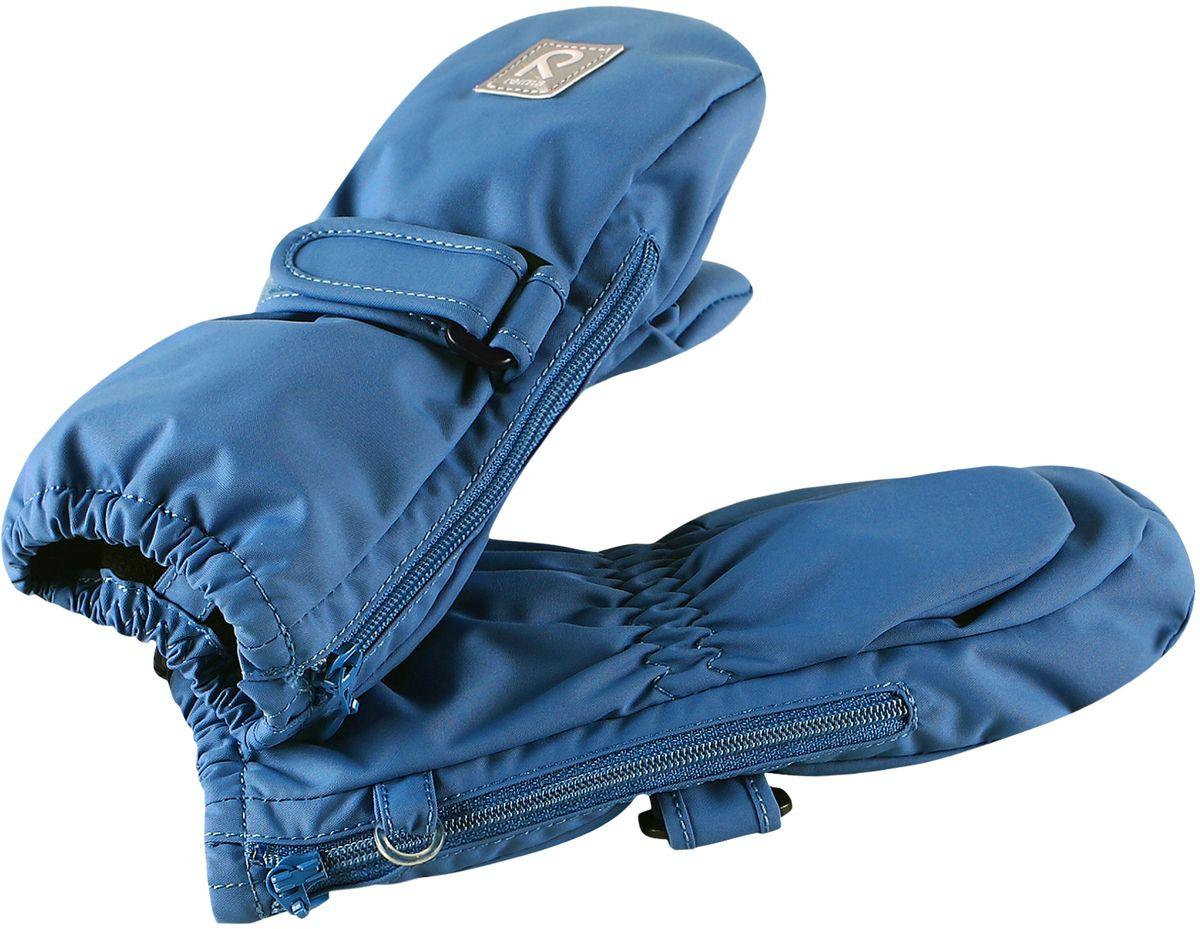 Варежки детские Reima, цвет: синий. 5171450. Размер 05171450Эластичные, теплые и удобные варежки для активных малышей. Они защитят от брызг и небольшого дождика, так как изготовлены из водонепроницаемого материала. Благодаря застежке на молнии их невероятно легко надевать! Легкое утепление согреет в прохладную весеннюю и осеннюю погоду.
