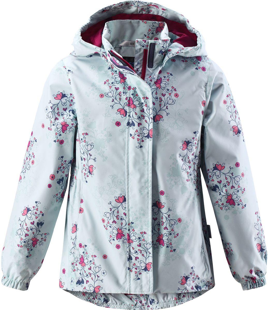 Куртка для девочки Lassie, цвет: бледно-зеленый. 721704R8781. Размер 116721704R8781Стильная демисезонная куртка для девочек изготовлена из водоотталкивающего, ветронепроницаемого и дышащего материала. Гладкая и приятная на ощупь подкладка из полиэстера на легком утеплителе согревает и облегчает процесс одевания. Удлиненная модель для девочек с эластичной талией, подолом и манжетами. Практичные детали просто незаменимы: безопасный съемный капюшон, карманы, вшитые в боковые швы, и светоотражающая эмблема сзади.