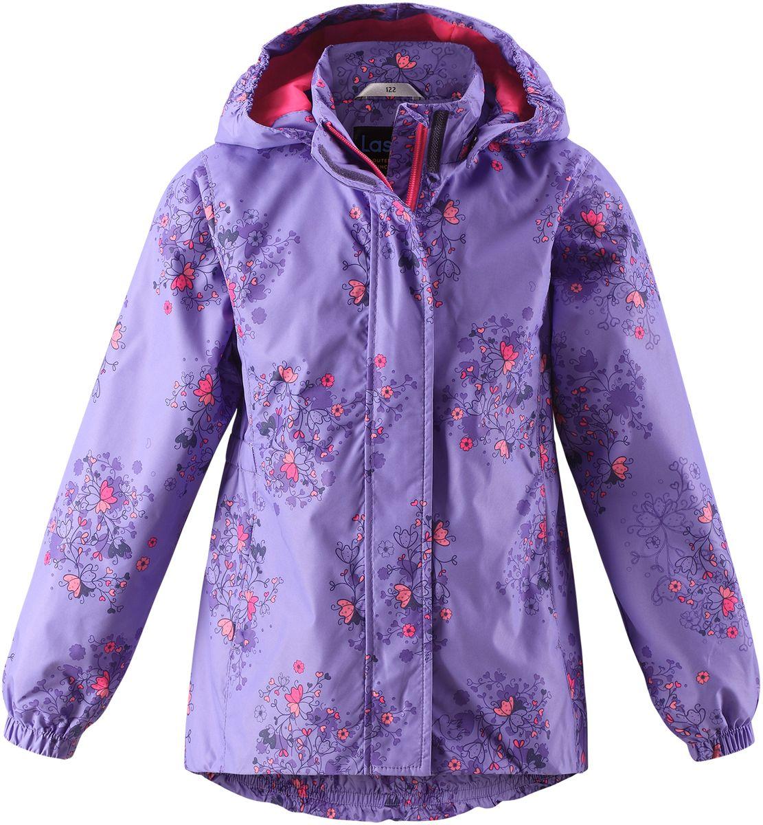 Куртка для девочки Lassie, цвет: сиреневый. 721704R5691. Размер 122721704R5691Стильная демисезонная куртка для девочек изготовлена из водоотталкивающего, ветронепроницаемого и дышащего материала. Гладкая и приятная на ощупь подкладка из полиэстера на легком утеплителе согревает и облегчает процесс одевания. Удлиненная модель для девочек с эластичной талией, подолом и манжетами. Практичные детали просто незаменимы: безопасный съемный капюшон, карманы, вшитые в боковые швы, и светоотражающая эмблема сзади.