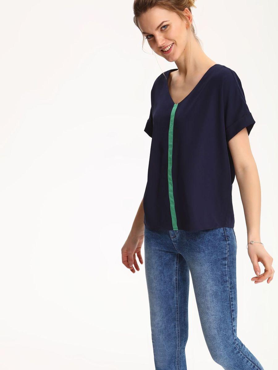 БлузкаSBK2224GRБлузка женская Top Secret выполнена из полиэстера и вискозы. Модель с V- образным вырезом горловины и короткими рукавами.