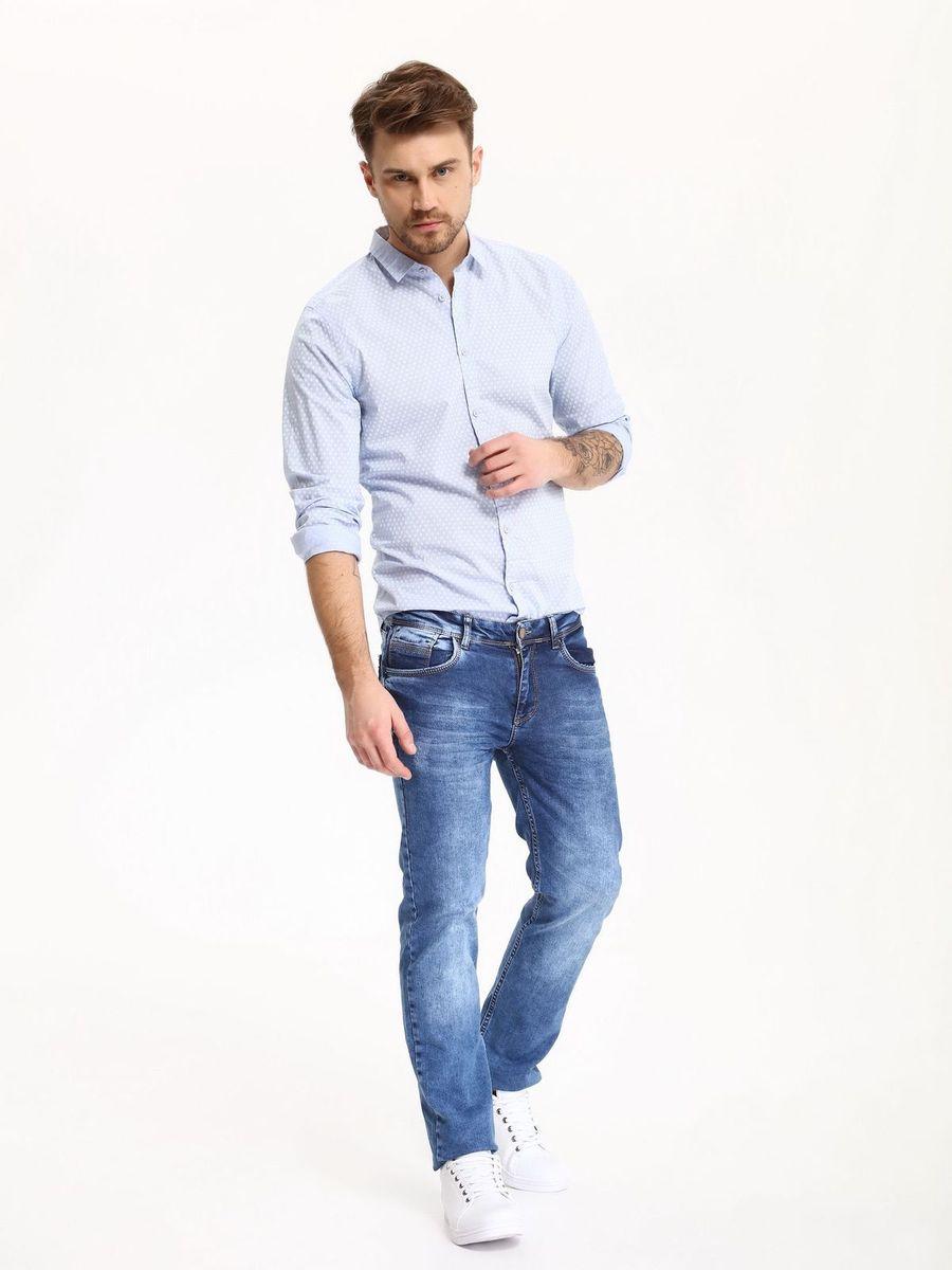 РубашкаSKL2274NIРубашка мужская Top Secret выполнена из 100% хлопка. Модель с отложным воротником и длинными рукавами застегивается на пуговицы.