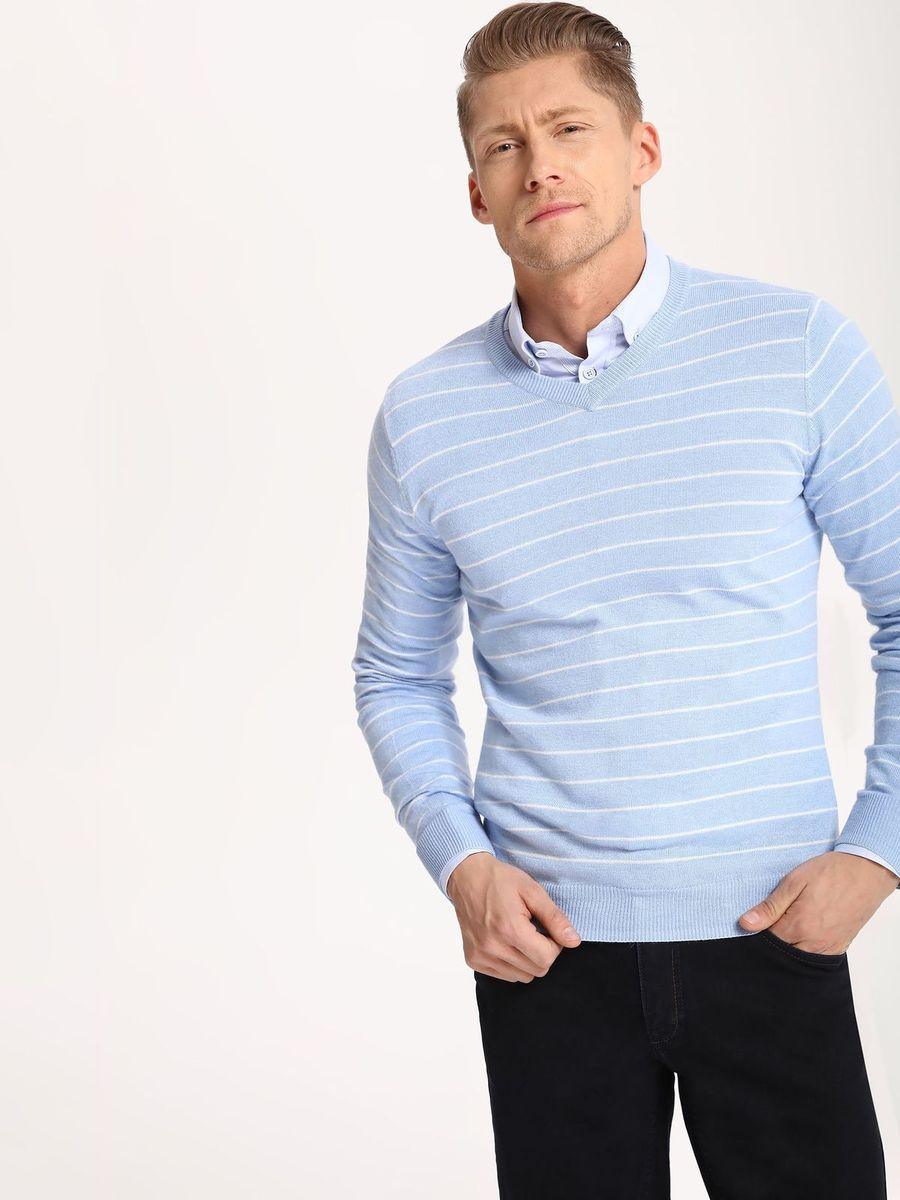 Джемпер мужской Top Secret, цвет: синий. SSW2111NI. Размер M (48)SSW2111NIДжемпер мужской Top Secret выполнен из вискозы, полиамида и альпаки. Модель с V-образным вырезом горловины и длинными рукавами.