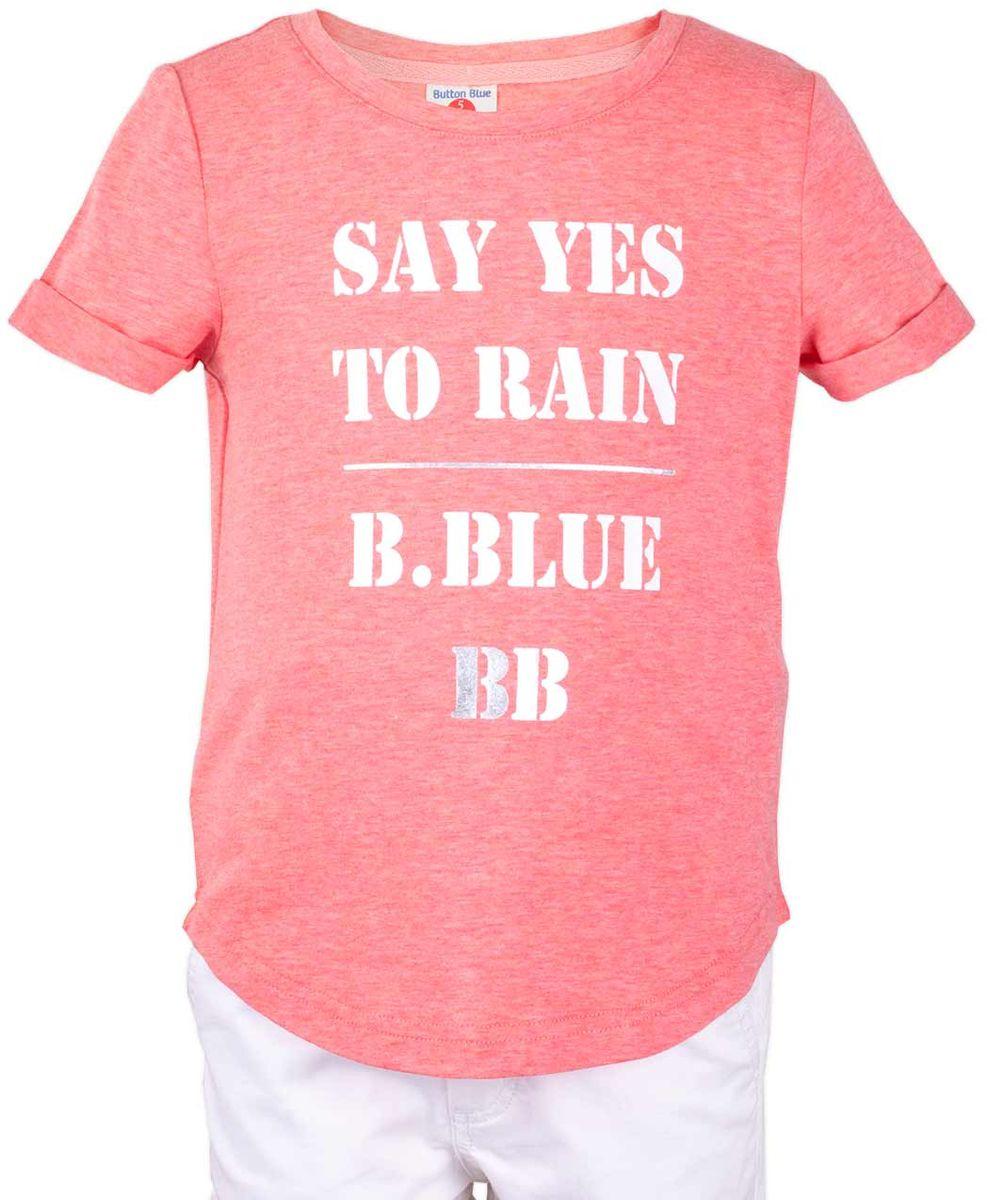 Футболка117BBGC12010200Футболка - не только базовая вещь в гардеробе ребенка, но и залог хорошего летнего настроения. Если вы решили купить недорогую белую футболку для девочки, выберете модель футболки с оригинальным принтом, и ваш ребенок будет доволен.