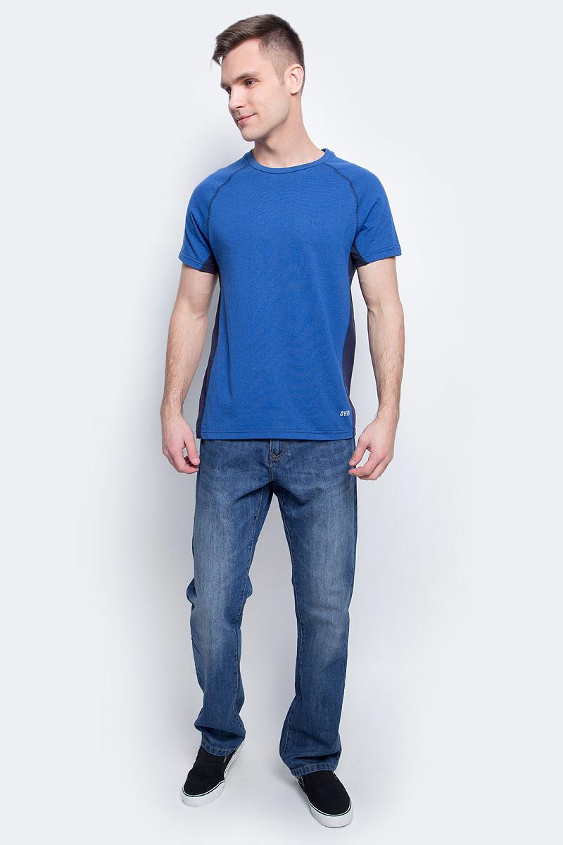 Футболка мужская Sela, цвет: синий. Ts-2411/002-7111. Размер XS (44)Ts-2411/002-7111Стильная мужская футболка полуприлегающего силуэта Sela изготовлена из качественного хлопкового материала однотонного цвета с контрастными вставками по бокам. Воротник дополнен мягкой трикотажной резинкой. Универсальный цвет позволяет сочетать модель с любой одеждой.