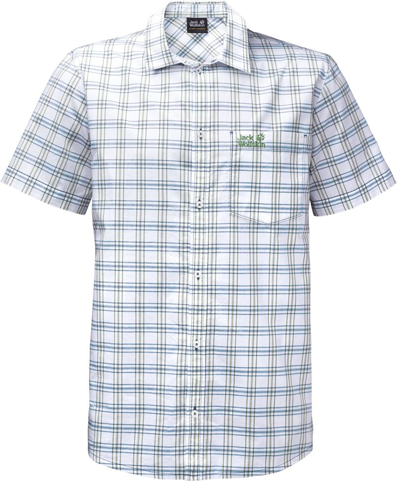Рубашка1402331-7630Рубашка мужская Hot Springs Shirt изготовлена из 100% натурального хлопка. В ней вы будете чувствовать себя комфортно в жаркую погоду. Модель отлично вентилируется и дает ощущение прохлады. Рубашка застегивается на пуговицы, имеет отложной воротник и короткие стандартные рукава. Спереди расположен накладной нагрудный карман. Рубашка дополнена принтом в клетку и логотипом бренда.