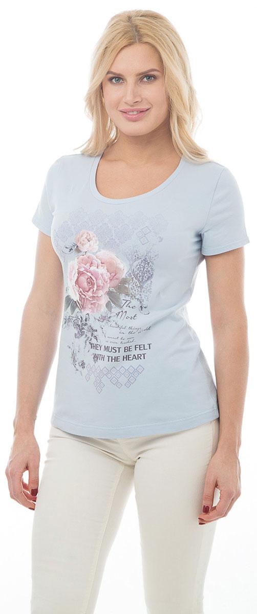 ФутболкаBGUZ-975Стильная женская футболка BeGood изготовлена из высококачественного эластичного хлопка приятного на ощупь. Модель свободного кроя с короткими рукавами и округлым вырезом горловины оформлена цветочным принтом и надписями. Такая футболка великолепно дополнит летний гардероб и поможет вам создать романтичный и нежный образ.