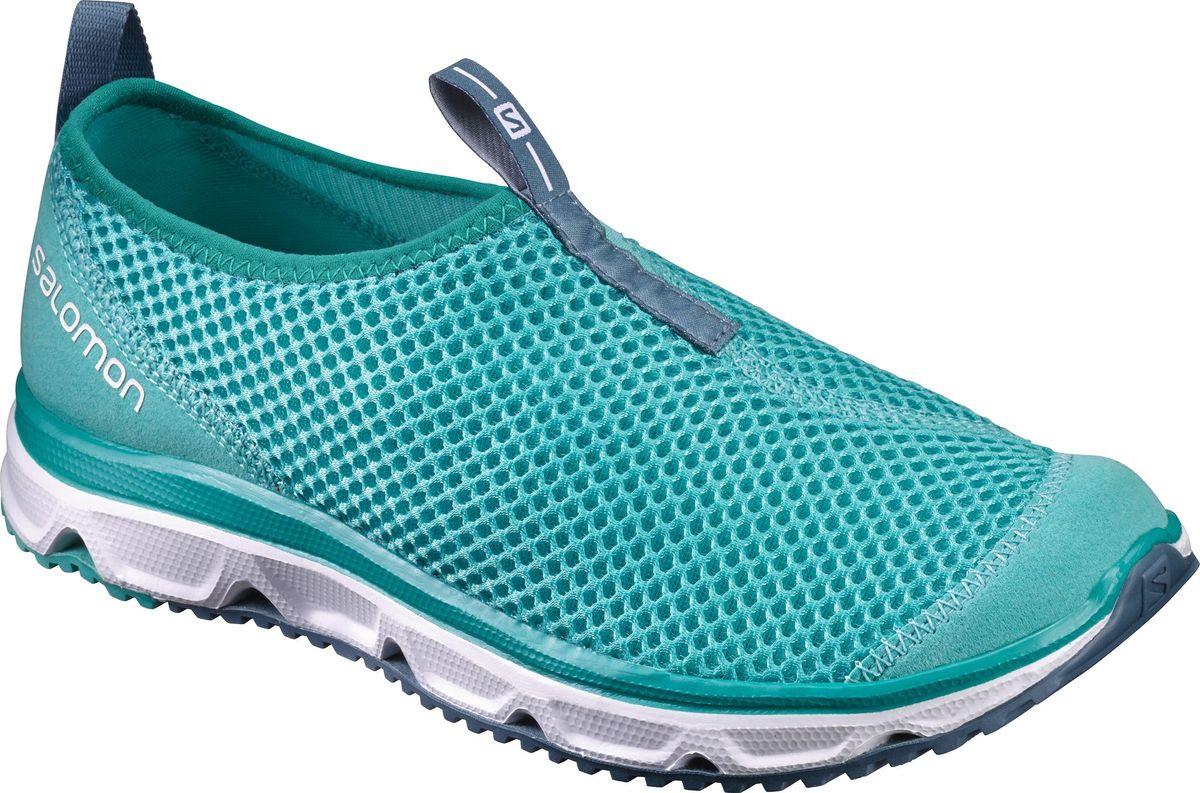 Кроссовки женские Salomon Rx Moc 3.0 W, цвет: бирюзовый. L39244600. Размер 7,5 (40)L39244600Женские кроссовки от Salomon - незаменимая обувь в вашем гардеробе. Модель, выполненная из высококачественного материала, дарит комфорт и легкость во время ходьбы или бега. Верх изделия оформлен плетением. На заднике кроссовки декорированы логотипом бренда. Рифленая подошва обеспечит прочное сцепление с любой поверхностью. Такие кроссовки помогут ногам расслабиться после долгих и утомительных тренировок.