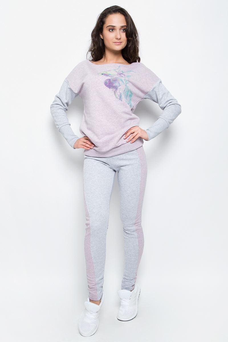 Брюки спортивные женские Grishko, цвет: серый, розовый. AL-3110. Размер XL (50)AL-3110Суперкомфортные брюки Grishko прямого кроя с лампасами и эластичным поясом прекрасно подойдут для спортивных тренировок и прогулок на свежем воздухе. Модель изготовлена с вставками контрастного цвета, создающими стройный силуэт. Выполнена из мягкого меланжированнного хлопка с лайкрой нового поколения - необычайно качественного и приятного на ощупь материала.