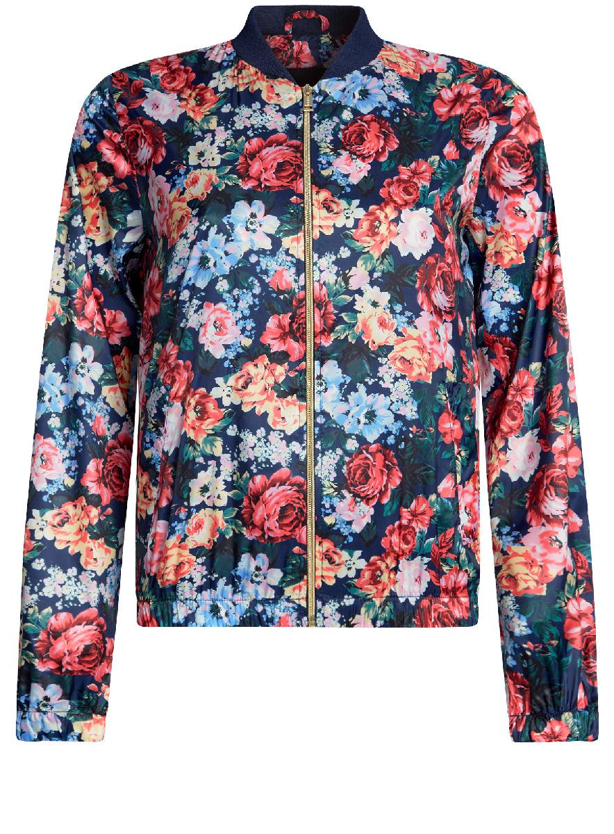 Куртка10303056/46708/124BFЖенская легкая куртка-бомбер oodji Ultra выполнена из высококачественного материала. Модель с трикотажным воротником застегивается на застежку-молнию. Низ куртки и манжеты дополнены эластичными вставками. Спереди расположено два втачных кармана.