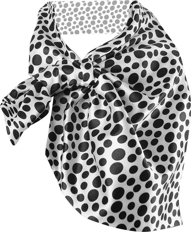 Платок женский Charmante, цвет: белый, черный. FRPA323. Размер 65 см х 35 смFRPA323Элегантный платок имеет специальный крой и небольшую петельку. Продевая один или несколько краев аксессуара, вы каждый раз будете получать новый вид.
