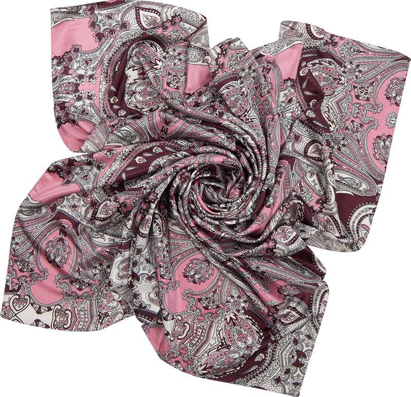 Платок женский Charmante, цвет: розовый. SHPA265. Размер 110 см х 110 смSHPA265Великолепный платок в сдержанной цветовой гамме. Элегантный орнамент в стиле барокко прекрасно дополнит осеннее пальто. Эта модель больше всего подойдет для классического образа, наполнив его непередаваемой изысканностью.