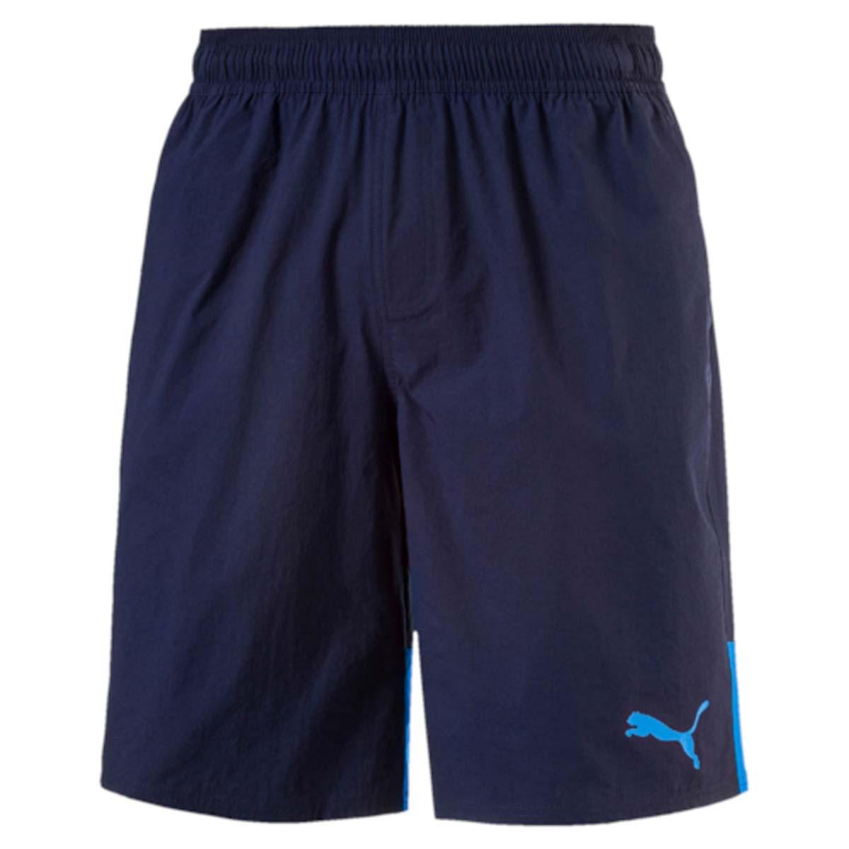 Шорты59066506Мужские шорты Style Summer Stretch Shorts созданы для тех, кто ценит комфорт и свободу движений. Эластичная ткань прекрасно тянется и не стесняет движений. В таких шортах удобно тренироваться, гулять или просто заниматься повседневными делами. Эластичный пояс с затягивающимся шнурком гарантирует комфортную посадку. Боковые швы с нахлестом вперед способствуют свободе движений. Модель имеет боковые карманы. Также имеется внутренний карман для мелочи и прорезной карман с обтачками сзади. Шорты декорированы логотипом PUMA на левой штанине. Имеют стандартную посадку.