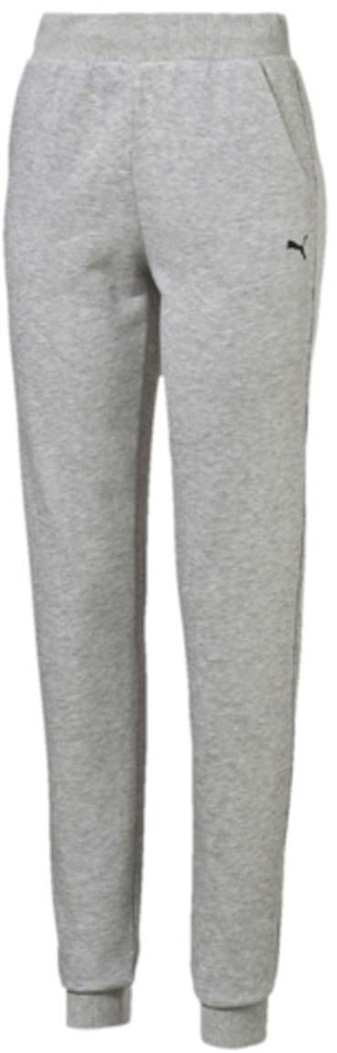 Брюки спортивные женские Puma ESS Sweat Pant TR W, цвет: серый. 83842804. Размер XXL (50/52)83842804Женские спортивные брюки ESS Sweat Pant TR W полуприлегающего фасона выполнены из хлопка с добавлением полиэстера. Мягкая дышащая ткань обеспечивает естественную терморегуляцию. Мягкий широкий пояс на резинке с внутренней утяжкой не сдавливает и не создает дискомфорт. Манжеты по низу штанин отделаны трикотажем в резинку. Брюки декорированы вышитым логотипом PUMA. Такая модель - универсальный спортивный вариант для занятий как на свежем воздухе, так и в спортзале.