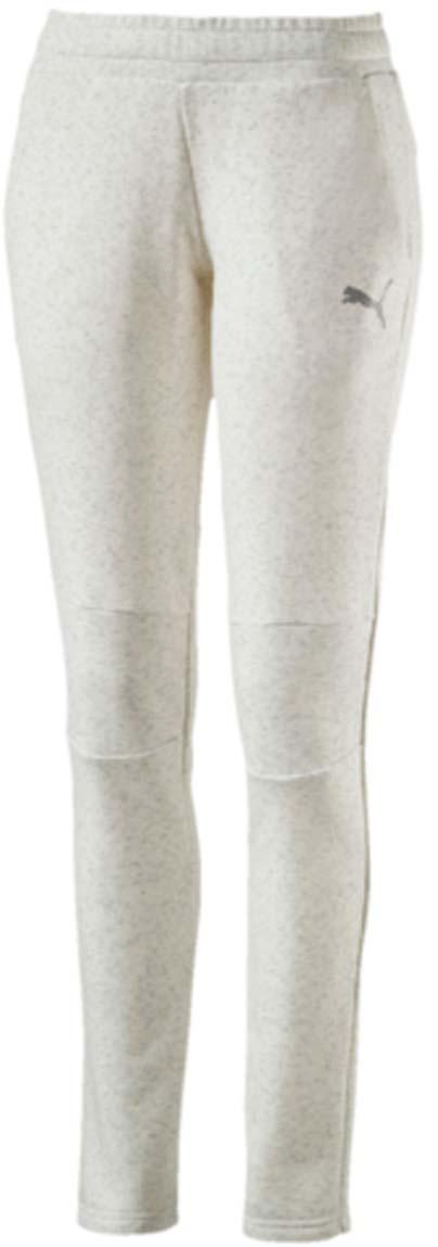 Брюки спортивные590750_02Женские спортивные брюки Swagger Pants W выполнены из хлопка с добавлением полиэстера. Модель имеет пояс с внутренней утяжкой, благодаря чему хорошо садится на талию. Для удобства предусмотрены боковые карманы с сетчатой подкладкой. На коленях также имеется сетчатая вставка. Брюки декорированы логотипом PUMA из светоотражающего материала, нанесенным методом термопечати. Изделие имеет стандартную посадку.