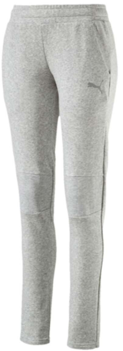 Брюки спортивные женские Puma Swagger Pants W, цвет: серый. 590750_04. Размер L (46/48)590750_04Женские спортивные брюки Swagger Pants W выполнены из хлопка с добавлением полиэстера. Модель имеет пояс с внутренней утяжкой, благодаря чему хорошо садится на талию. Для удобства предусмотрены боковые карманы с сетчатой подкладкой. На коленях также имеется сетчатая вставка. Брюки декорированы логотипом PUMA из светоотражающего материала, нанесенным методом термопечати. Изделие имеет стандартную посадку.