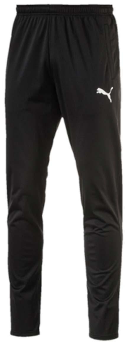 Брюки спортивные65520403Мужские спортивные брюки ftblTRG Training Pants для занятий футболом или любым другим видом спорта отлично подойдут для носки во время тренировок и отдыха. Модель изготовлена из полиэстера с использованием высокофункциональной технологии dryCELL, которая отводит влагу, поддерживает тело сухим и гарантирует комфорт. Пояс из эластичного материала снабжен затягивающимся шнуром. Изделие имеет стандартную посадку и сетчатые вставки. Брюки декорированы логотипом PUMA.