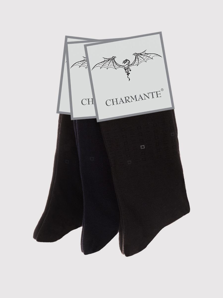Носки мужские Charmante, цвет: черный. SCHM-1493. Размер 27-29 (42/44)SCHM-1493Мужские носки Charmante с удлиненным паголенком изготовлены из высококачественного материалаобеспечивающего великолепную посадку. Удобная широкая резинка идеально облегает ногу и не пережимает сосуды, усиленные пятка и мысок повышают износоустойчивость носка.