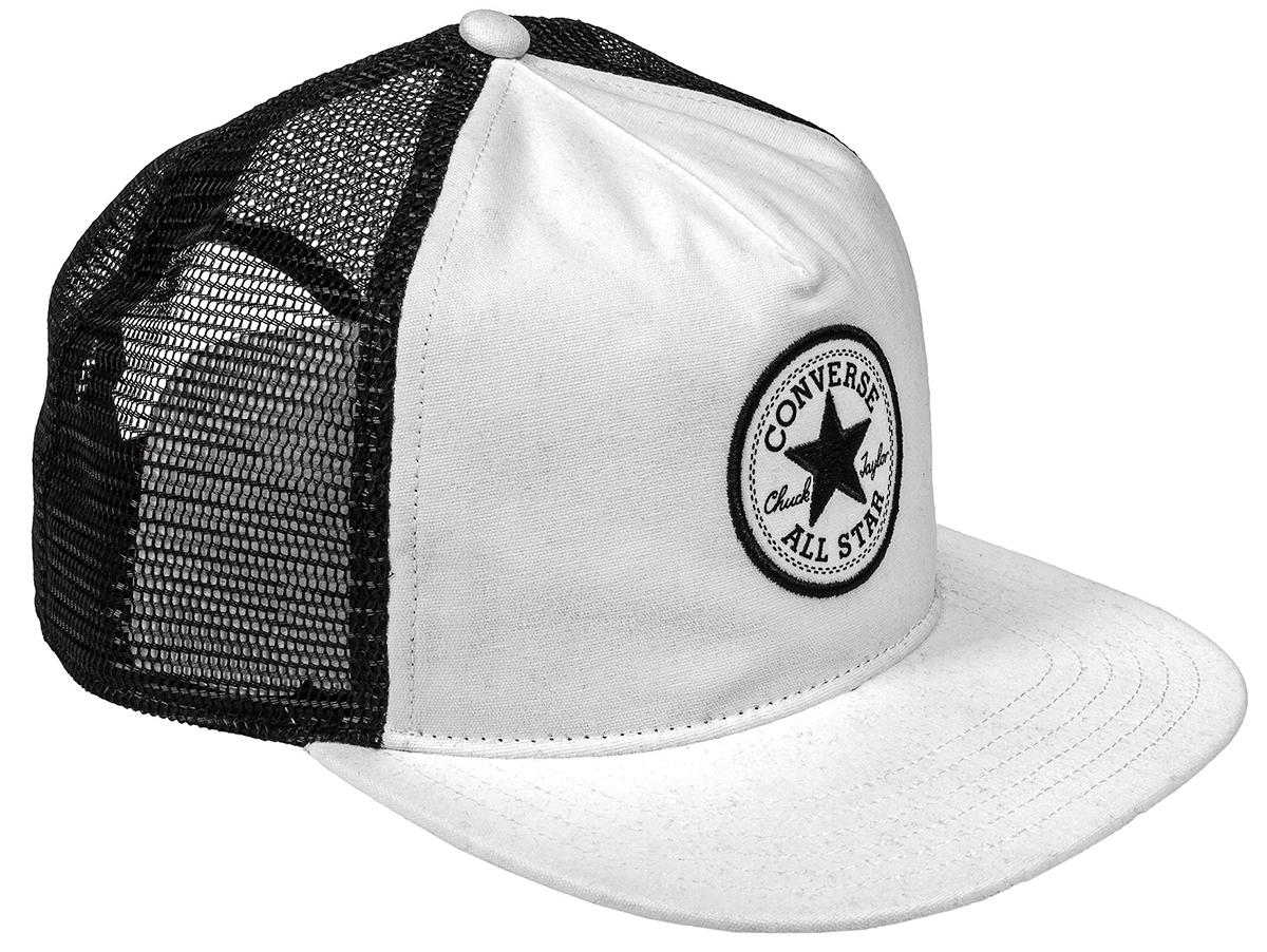 Бейсболка528717Стильная бейсболка Converse идеально подойдет для прогулок, занятий спортом и отдыха. Бейсболка, выполненная из хлопка с сетчатыми вставками из полиэстера, надежно защитит вас от солнца и ветра. Изделие оформлено вышивкой с логотипом бренда.