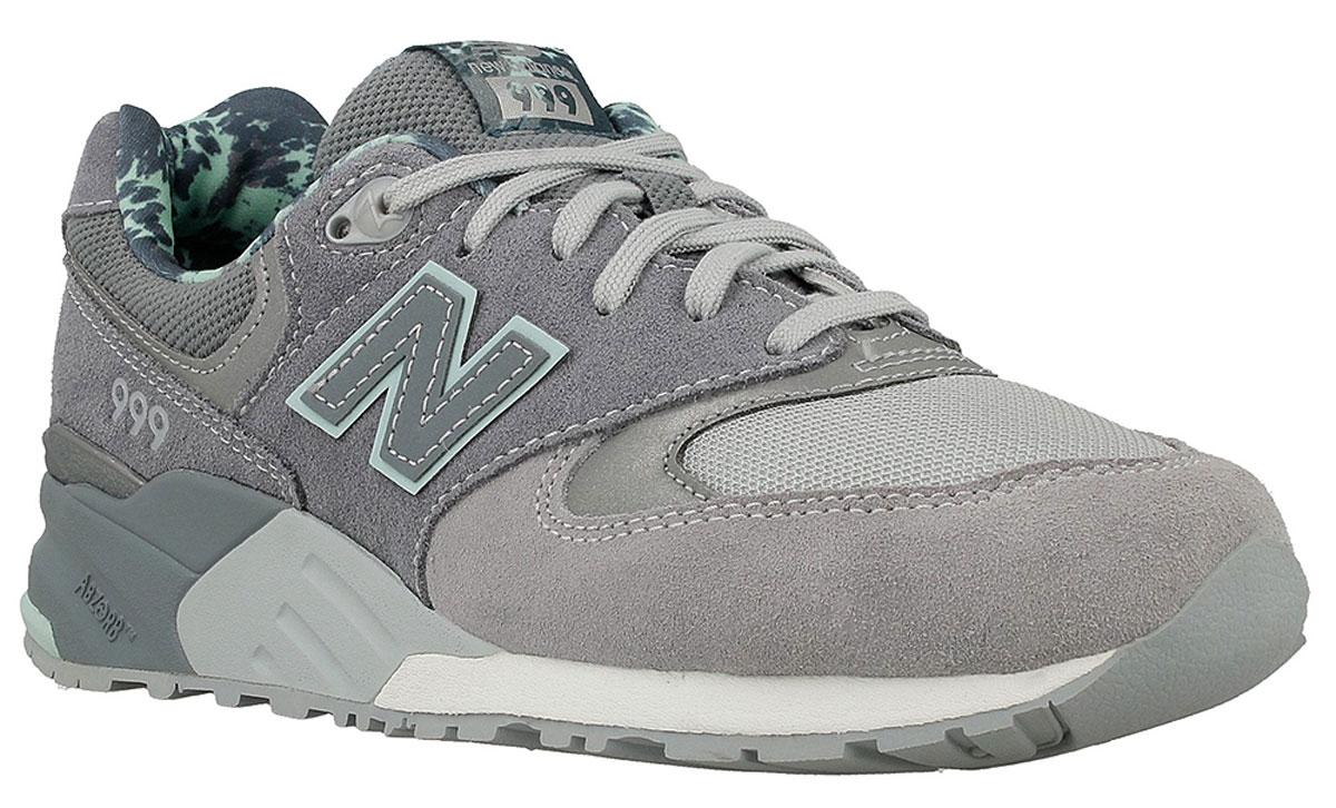 Кроссовки женские New Balance 999, цвет: серый. WL999TB/B. Размер 6,5 (37)WL999TB/BСтильные женские кроссовки от New Balance придутся вам по душе. Верх модели выполнен из высококачественныхматериалов. По бокам обувь оформлена декоративными элементами в виде фирменного логотипа бренда, на язычке - фирменной нашивкой. Классическая шнуровка надежно зафиксирует изделие на ноге. Подкладка и стелька, изготовленные из текстиля, гарантируют уют и предотвращают натирание. Подошва оснащена рифлением для лучшей сцепки с поверхностями. Удобные кроссовки займут достойное место среди коллекции вашей обуви.