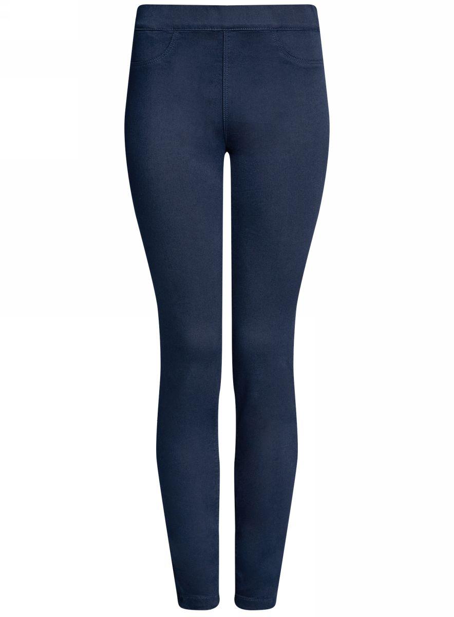 Джинсы женские oodji Ultra, цвет: синий. 12104043-7B/46261/7900N. Размер 28-30 (46-30)12104043-7B/46261/7900NЖенские джинсы oodji Ultra выполнены из высококачественного материала. Облегающая модель средней посадки. Джинсы имеют сзади два накладных кармана.