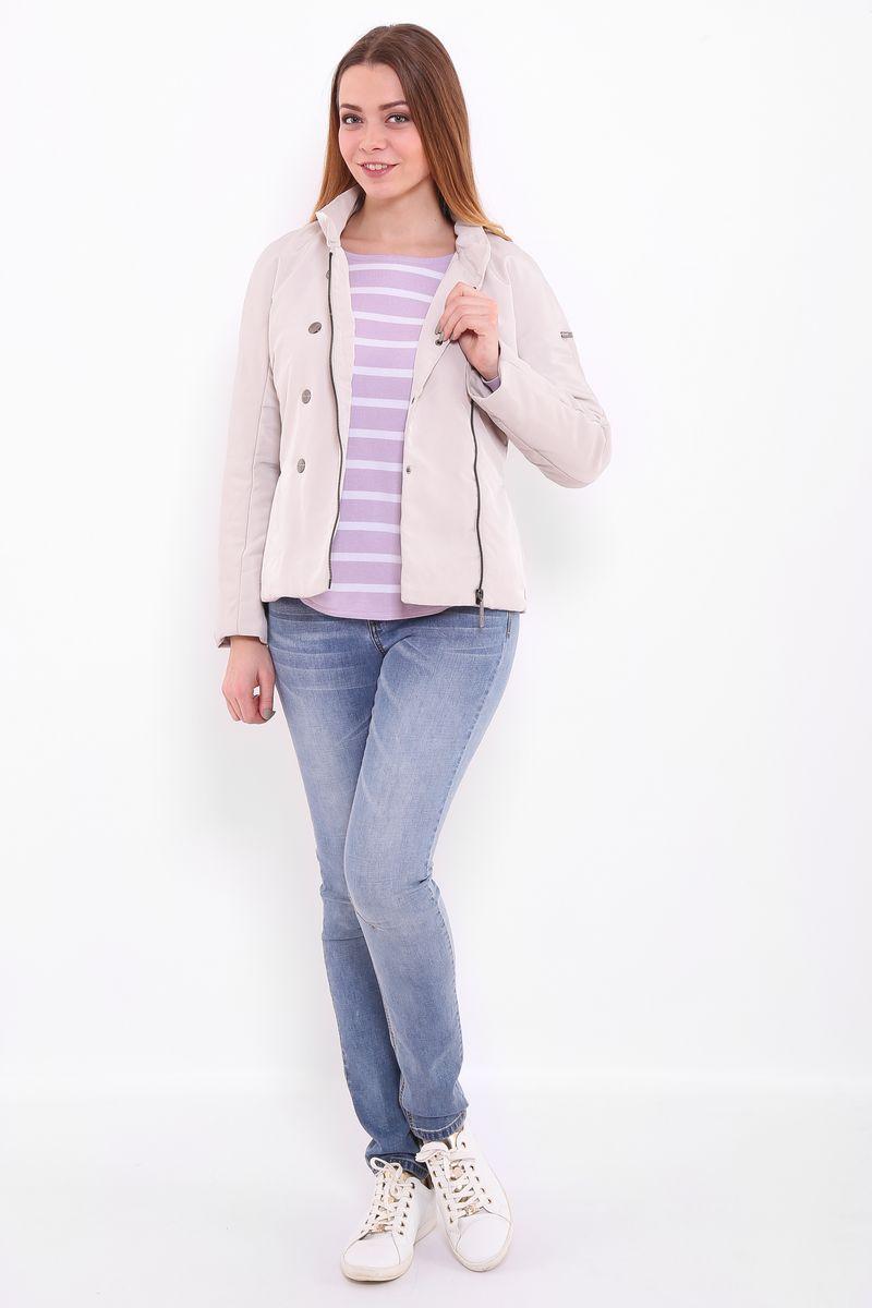 КурткаB17-11002Куртка женская Finn Flare выполнена из полиэстера. Модель с воротником- стойкой и длинными рукавами застегивается на молнию.