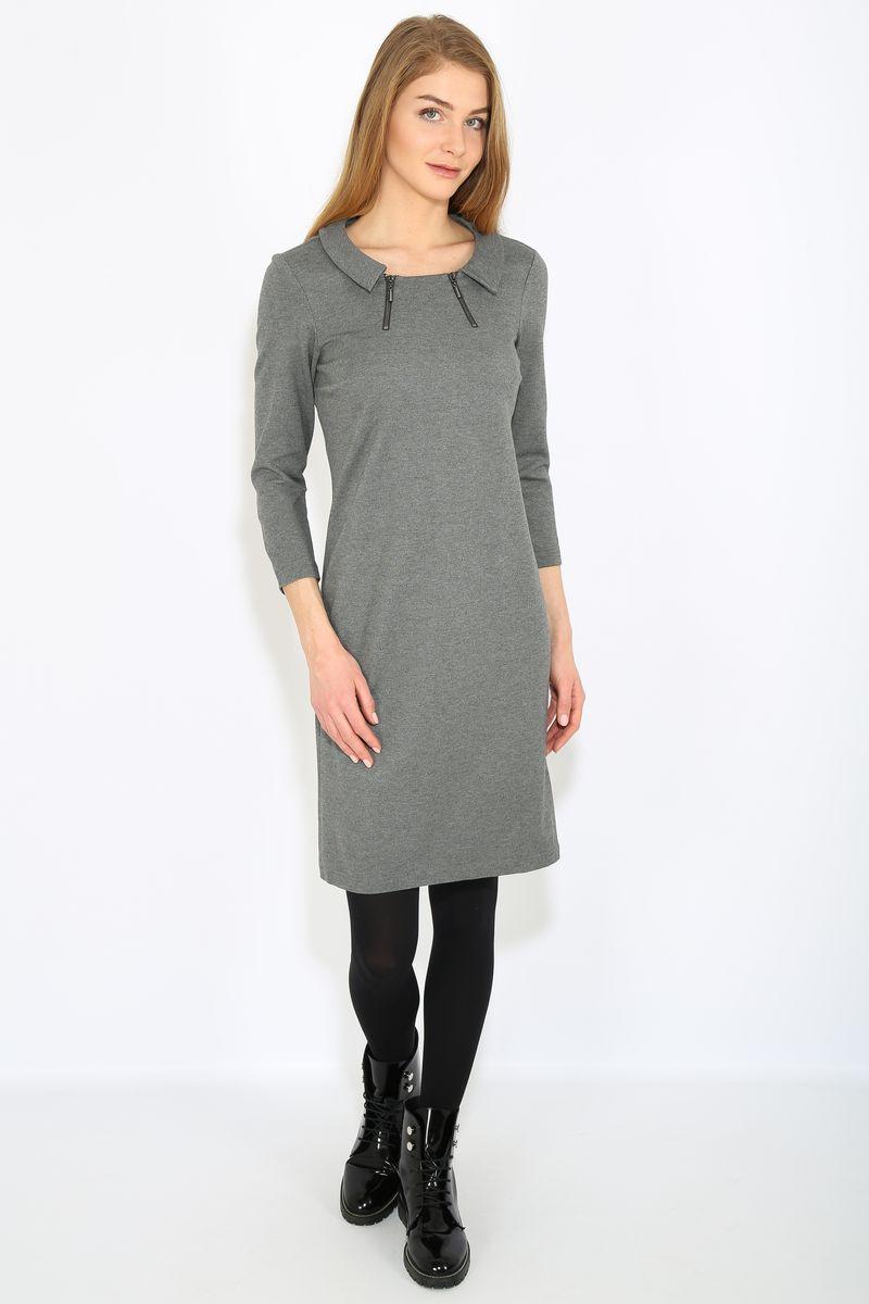 ПлатьеB17-12039Платье женское Finn Flare выполнена из вискозы, нейлона и эластана. Модель с круглым вырезом горловины и длинными рукавами.