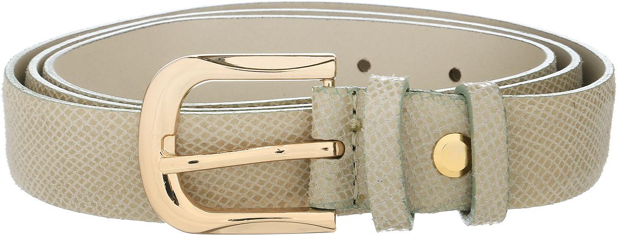 Ремень женский Vittorio Richi, цвет: светло-бежевый. 1014-ZK1445/z. Размер 1051014-ZK1445/zРемень, выполненный из натуральной кожи. Длина регулируется.