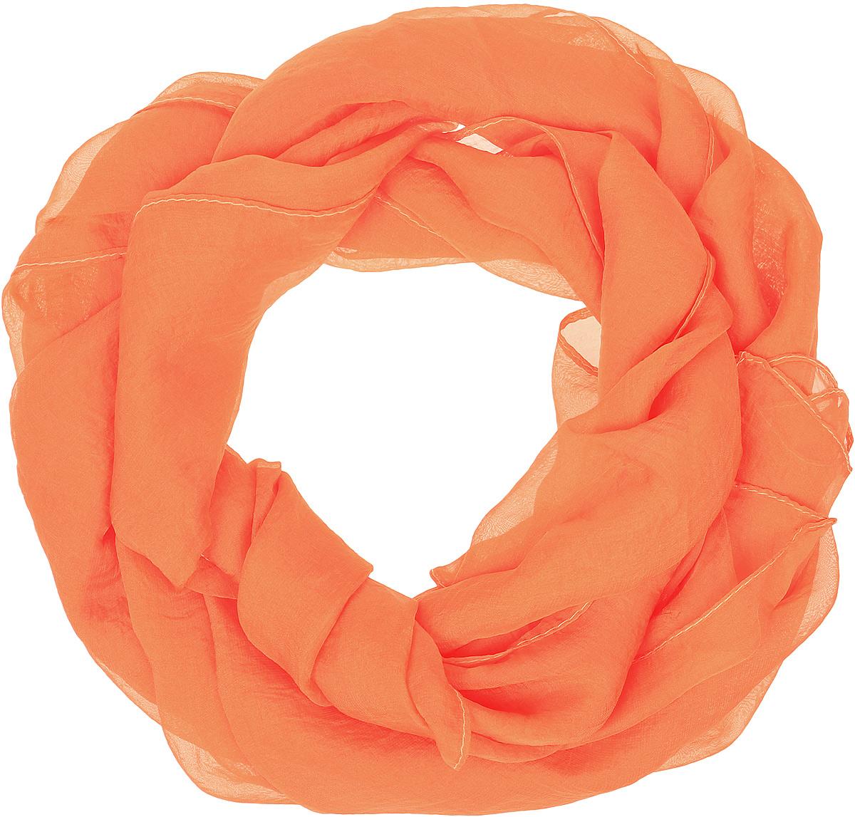 Палантин женский Vittorio Richi, цвет: оранжевый. Ro02PC3475/30. Размер 70 см х 175 смRo02PC3475/30Однотонный палантин. Край - подрубка.