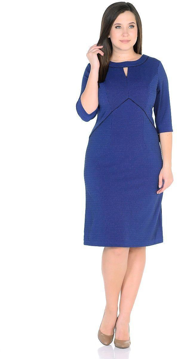 ПлатьеWD-2624FТрикотажное платье А-образного силуэта, подрезы переда отделаны кантом.Рукав 3/4.