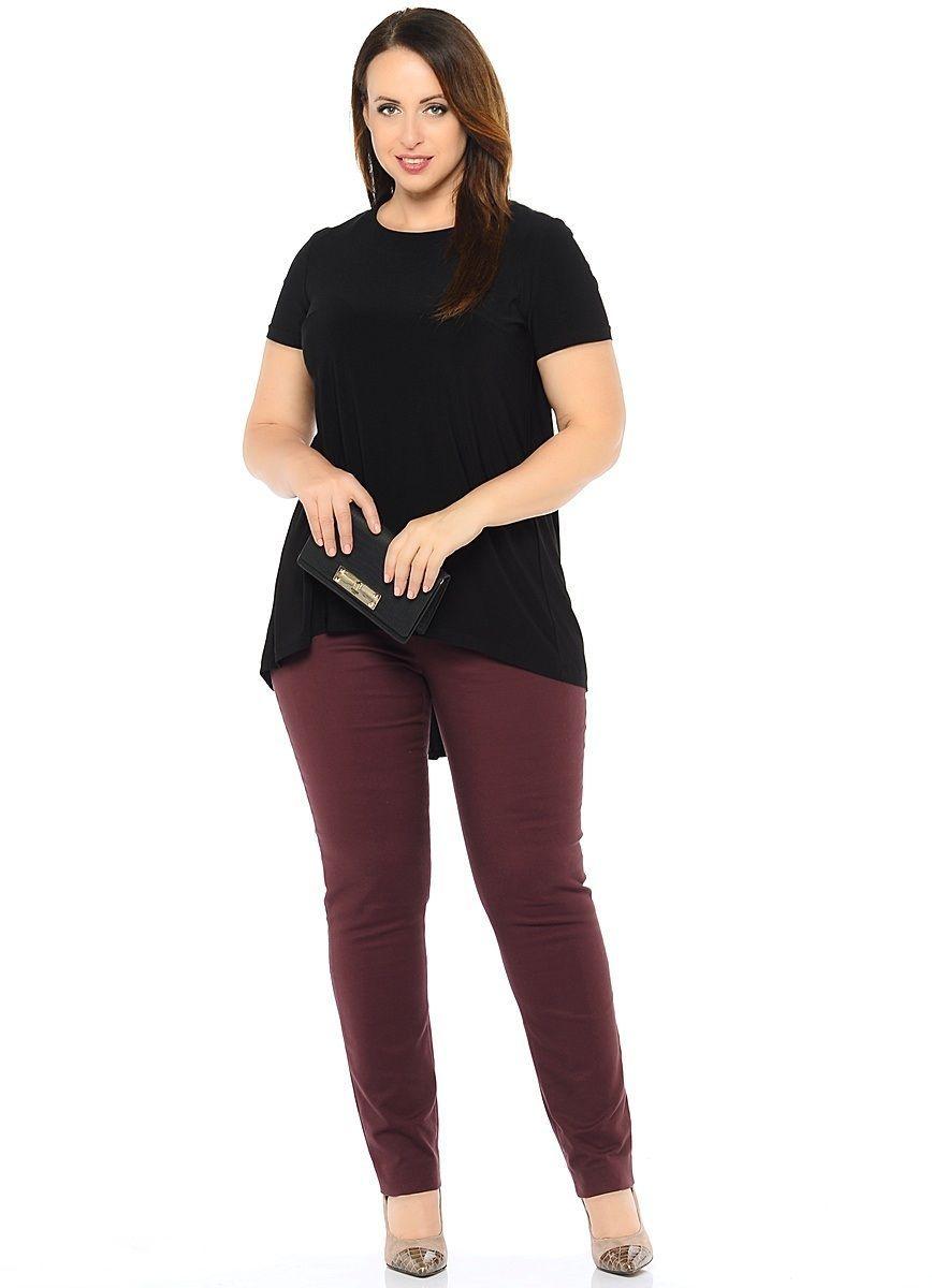 Туника женская Milton, цвет: черный. WP-6601F. Размер 52WP-6601FТрикотажная туника-блузон А-образного силуэта с короткими рукавами, по центру спинки - вставка из шифона в цвет основного материала. Круглый вырез горловины.