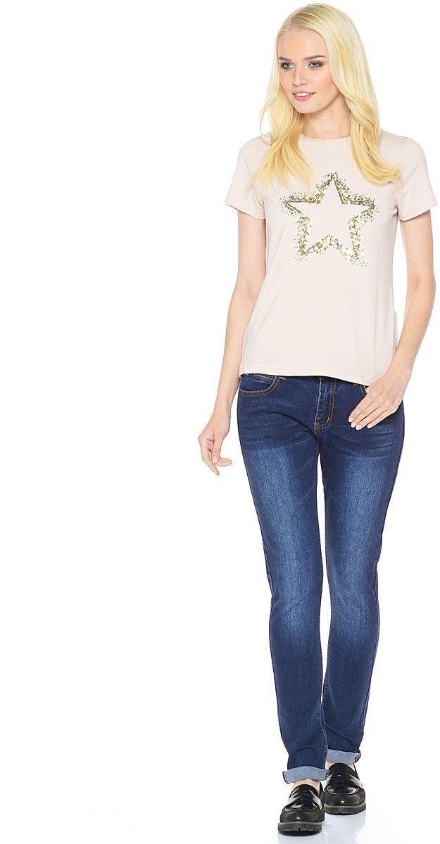 ДжинсыWZ-1652CСтильные женские джинсы Milton выполнены из хлопка с добавлением полиэстера и спандекса. Материал мягкий на ощупь, не сковывает движения и позволяет коже дышать. На поясе предусмотрены шлевки для ремня. Джинсы со средней посадкой застегиваются на пуговицу в поясе и ширинку на застежке-молнии.