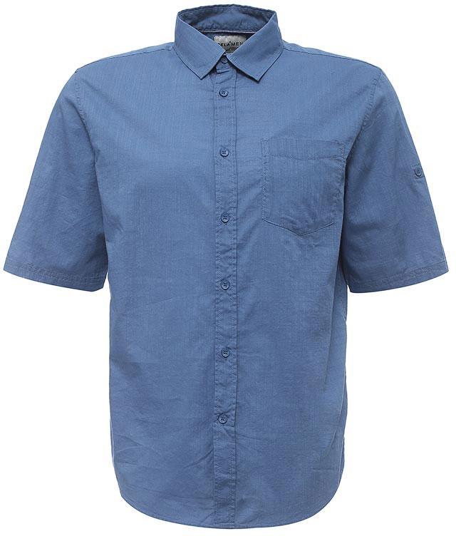 РубашкаHs-212/756-7224Стильная мужская рубашка Sela выполнена из натурального хлопка. Модель прямого кроя с рукавами до локтя и отложным воротничком застегивается на пуговицы и дополнена накладным карманом на груди. Рукава можно подвернуть и зафиксировать при помощи хлястиков на пуговицах. Универсальный цвет позволяет сочетать модель с любой одеждой.