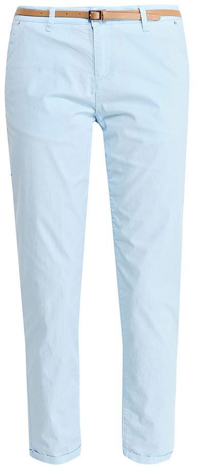 Брюки женские Sela, цвет: небесно-голубой. P-115/832-7233. Размер 48P-115/832-7233Стильные укороченные брюки-чиносSela, изготовленные из качественного эластичного материала, станут отличным дополнением вашего гардероба. Брюки стандартной посадки на талии застегиваются на застежку-молнию и пуговицу. На поясе имеются шлевки для ремня. Модель дополнена двумя втачными карманами спереди и двумя прорезными карманами сзади. В комплект с брюками входит узкий ремень из искусственной кожи.