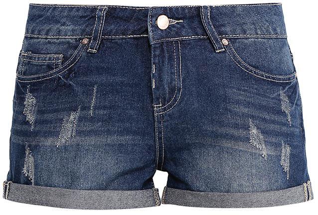 Шорты женские Sela Denim, цвет: синий джинс. SHJ-135/036-7213. Размер 27 (42/44)SHJ-135/036-7213Женские джинсовые шорты Sela, изготовленные из натурального хлопка с эффектом потертостей, станут отличным дополнением гардероба в летний период. Короткие шорты прямого кроя и стандартной посадки на талии застегиваются на застежку-молнию и пуговицу. На поясе имеются шлевки для ремня. Модель с отворотами дополнена двумя втачными и накладным карманами спереди и двумя накладными карманами сзади.