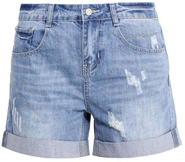 ШортыSHJ-135/610-7213Женские джинсовые шорты Sela, изготовленные из натурального хлопка с эффектом потертостей и разрывов, станут отличным дополнением гардероба в летний период. Шорты силуэта Boyfriend и стандартной посадки на талии застегиваются на застежку-молнию и пуговицу. На поясе имеются шлевки для ремня. Модель с отворотами дополнена двумя втачными и накладным карманами спереди и двумя накладными карманами сзади.