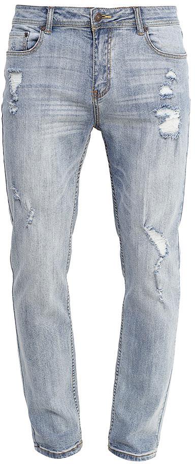 ДжинсыPJ-235/1089-7253Стильные мужские джинсы Sela, изготовленные из качественного эластичного хлопка с потертостями и разрывами, станут отличным дополнением гардероба. Джинсы зауженного кроя и стандартной посадки на талии застегиваются на застежку-молнию и пуговицу. На поясе имеются шлевки для ремня. Модель представляет собой классическую пятикарманку: два втачных и накладной карманы спереди и два накладных кармана сзади.