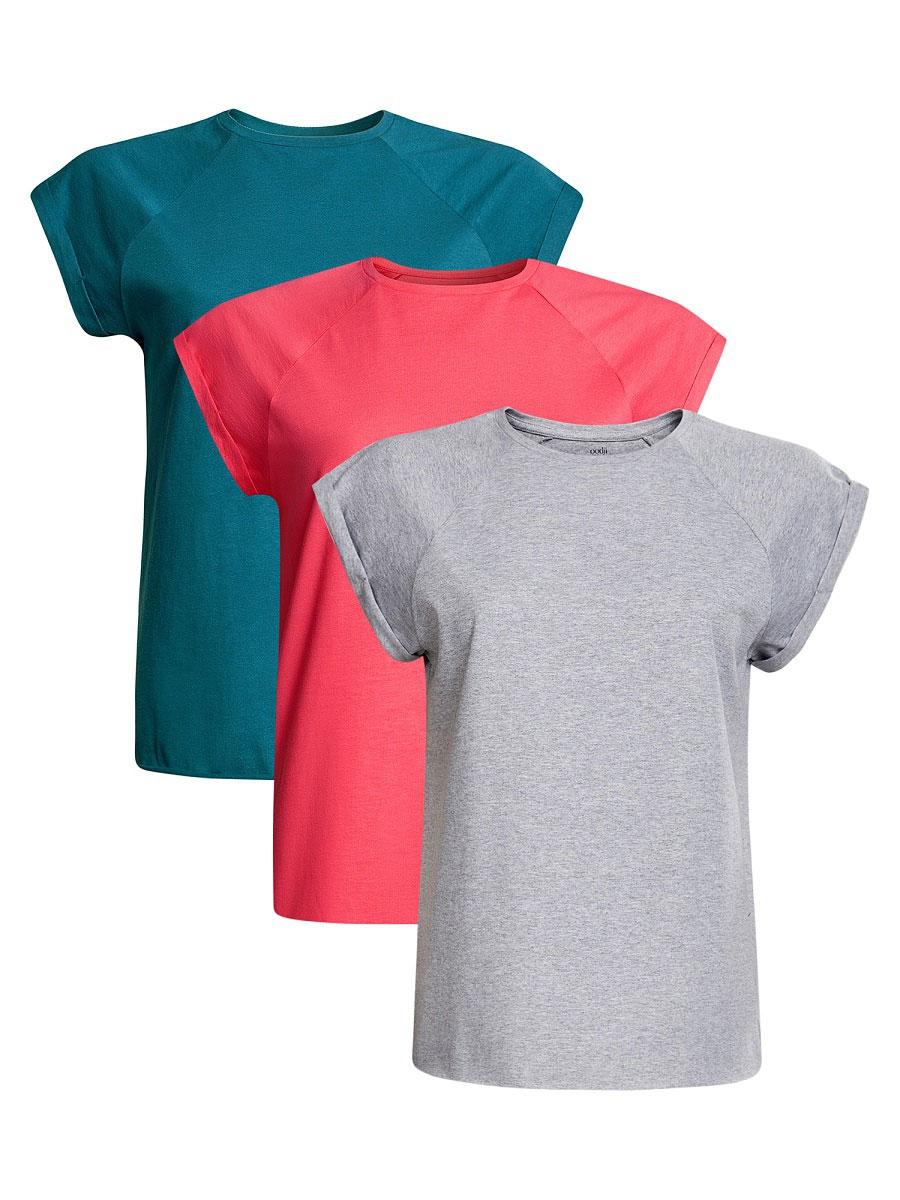 Футболка14707001T3/46154/4620NБазовая футболка с короткими рукавами и круглым вырезом горловины выполнена из натурального хлопка. В комплект входит три футболки.