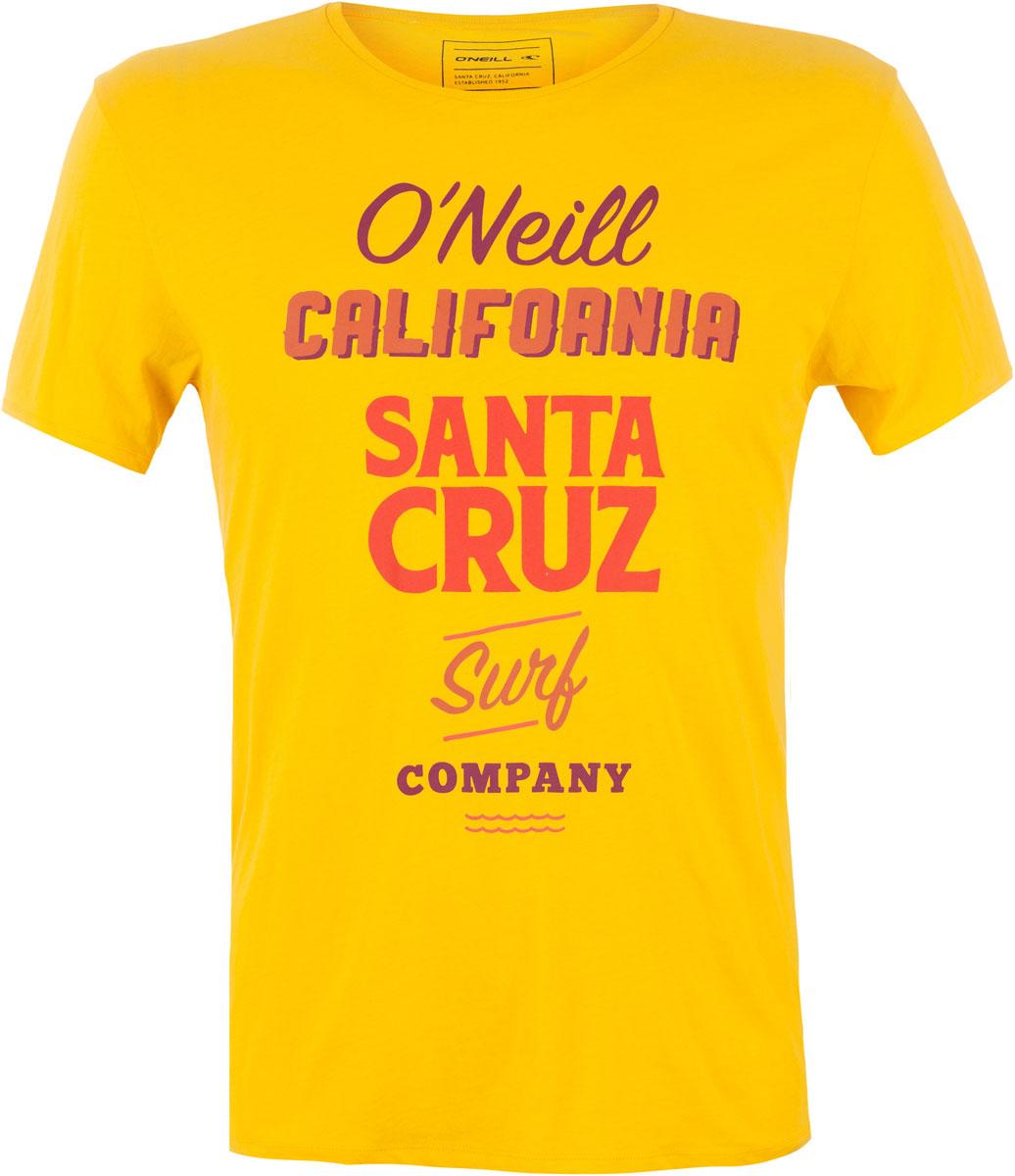 Футболка мужская ONeill Lm Logo Art T-Shirt, цвет: желтый. 7A3660-2046. Размер M (48/50)7A3660-2046Футболка мужская ONeill выполнена из 100% хлопка. Модель имеет стандартный крой, короткий рукав и круглый вырез горловины. Футболка дополнена надписями.