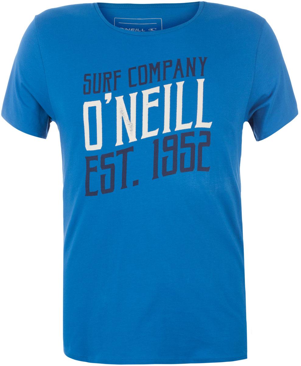 Футболка мужская ONeill Lm Script T-Shirt, цвет: голубой. 7A3658-5124. Размер M (48/50)7A3658-5124Футболка мужская ONeill выполнена из 100% хлопка. Модель имеет стандартный крой, короткий рукав и круглый вырез горловины. Футболка дополнена надписями.