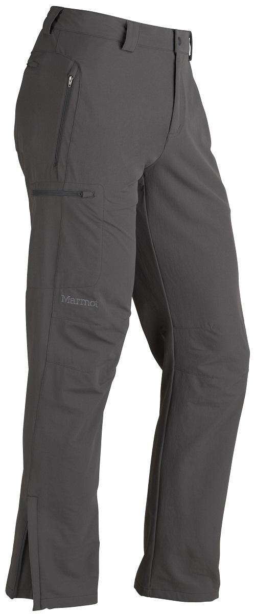 Брюки спортивные мужские Marmot Scree Pant, цвет: серый. 80950-1440. Размер S(46/48)80950-1440Универсальные брюки на каждый день и для поездок, путешествий, беговых лыж. Эластичные, прочные, дышащие. Влагостойкая и воздухопроницаемая ткань– идеальна для высокоаэробной активности, карманы для рук на молниях, задний карман на молнии для удобства хранения мелочей, регулируемый эластичный пояс.